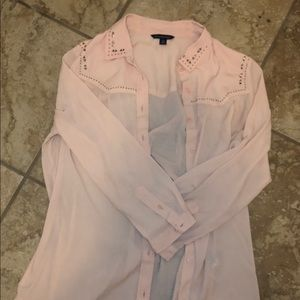 American Eagle Button Up Blouse